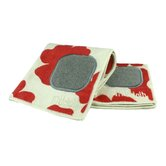 MUmodern 12&quot; x 12&quot; Cloth in Red Poppy (Set of 2)