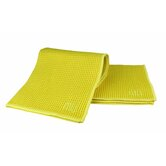 "MUmodern Waffle 12"" x 12"" Microfiber Dish Cloth in Lemon (Set of 3)"