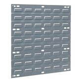 "Louvered Panel, Wall Mountable, 1""x18""x19"", Gray"