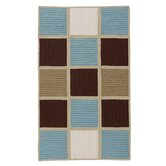 Simply Home Hopscotch Blue Chocolate Rug