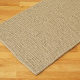 All-Natural Wool Herringbone Light Beige Rug