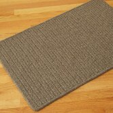 All-Natural Wool Herringbone Medium Brown Rug