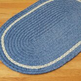 Chenille Accent Stripe Blue Kids / Juvenile Bath Rug