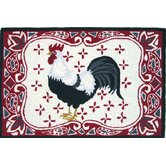 Homefires Rooster Accent Rugs