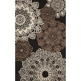 Ravella Crochet Black Indoor / Outdoor Rug