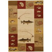Big Sky Red Novelty Rug