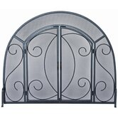 Wrought Iron Ornate Fireplace Screen