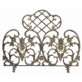 Antique Gold Aluminum Fireplace Screen