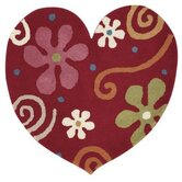 Fantasia Heart Red Kids Rug