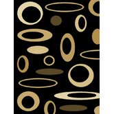 Dimensions Mod Circles Black/Beige Rug