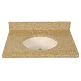 "37"" x 22"" 3cm Single Bowl Granite Vanity Top with 8"" Centers"