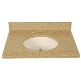 "31"" x 22"" 3cm Single Bowl Granite Vanity Top with 8"" Centers"