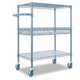 Three-Tier Rolling Cart, 30 x 18 x 40, Black
