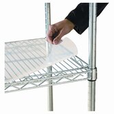 Shelf Liners For Wire Shelving, 36w x 24d, Clear Plastic, 4 Pack