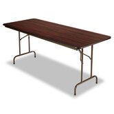 Folding Table,72w x 30d x 29h, Walnut