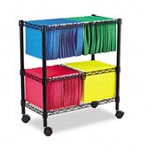 "Two-Tier 30"" H x 26"" W Rolling File Cart"