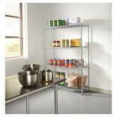 Four-shelf 48&quot; W x 18&quot; D Industrial Wire Shelving Starter Kit