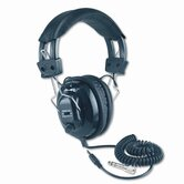Deluxe Stereo Headphones with Mono Volume Control, Aqua