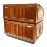 Ambassador Multimedia Lectern in Natural Walnut