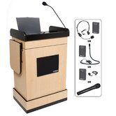 Wireless Multimedia Computer Lectern with Electret Mic