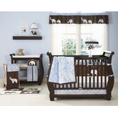 Blue Elephant Crib Bedding Collection