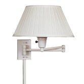 Simplicity Swing Arm Wall Lamp in White