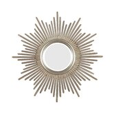 Reyes Wall Mirror in Antique Silver