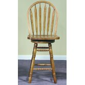 "24"" Arrowback Counter Stool (Medium Oak) w/ Swivel"