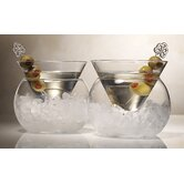 Rockwell Large Stemless Martini Glass (Set of 2)