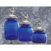 Canister with Rooster Lid (Set of 3)