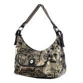 Travel Print Hobo Bag