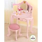 Princess 12.75&quot; Vanity Table and Stool