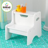 Two Step Stool in White