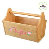 Personalized Toy Box Caddy in Natural