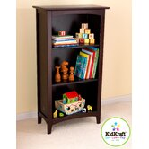 Avalon Three-Shelf Bookcase in Espresso