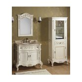 Vintage Bordeaux 36&quot; Bathroom Vanity