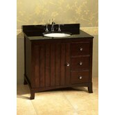 "Neo Classic Hampton 36"" Bathroom Vanity in Vintage Walnut"