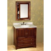 "Traditions Milano 36"" Bathroom Vanity in Colonial Cherry"
