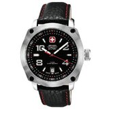 Outback Watch with Black and Red Dial, Black Strap