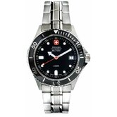 Alpine Diver Watch with Black Dial and Bracelet