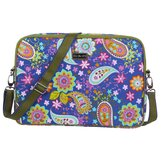 Laptop Sleeve in Cobalt Paisley