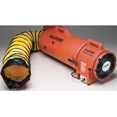 "8"" DC Plastic Com-PAX-ial Blower With Canister And 15' Flexible Duct"