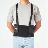 "Bodybelt Black 8"" Back Support w/Sewn In Suspenders Size Large 48"" To 58"""