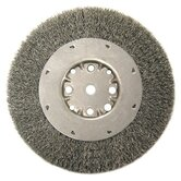 "Medium Face Crimped Wire Wheels-DMX Series-1 Dense Section - dmx6 .020""x6""x34"" carbonwire brush crimped wir"