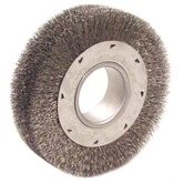 "Wide Face Crimped Wire Wheels-DH Series - dh8 8"" .014 wide face wire wheel w/2"" arbor"