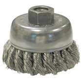 Knot Wire Cup Brushes For Small Angle Grinders-US & USC Series - us80s .0118/ss knot typecup brush 5/8-11 thre