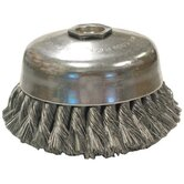 "Knot Wire Cup Brushes-Single Row-US Series - us4 .014x4""x1-1/4"" cup brush carbon sing"