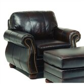 Easton Leather Chair and Ottoman