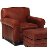 Hampton Leather Chair and Ottoman