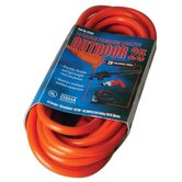 Coleman Cable - Vinyl Extension Cords 25' 14/3 Sjtw-A Orange Ext. Cord 300V: 172-02407 - 25' 14/3 sjtw-a orange ext. cord 300v